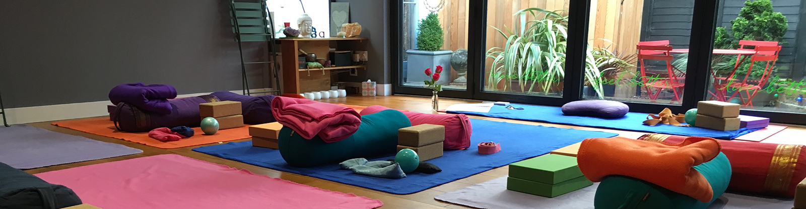 Flow studio used for group yoga