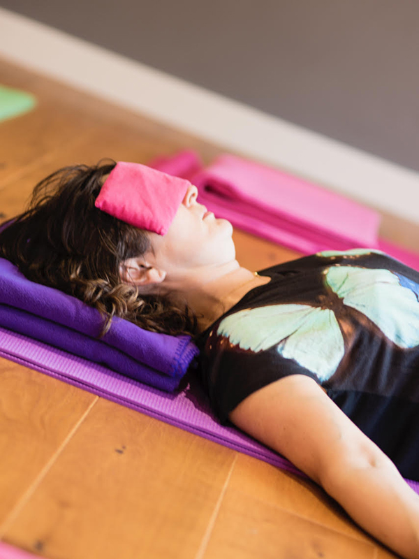 Relax at Flow's private yoga classes